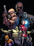 Ultimate Avengers No3 Cover: Red Wasp  Hulk  Spider-Man  Hawkeye  Nick Fury and War Machine