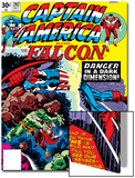 Captain America And The Falcon No202 Cover: Captain America and Falcon Fighting and Flying