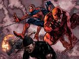 Daredevil No60 Group: Daredevil  Spider-Man  Iron Fist  and Luke Cage Fighting