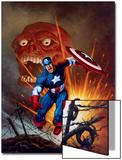 Captain America No8 Cover: Captain America  Bucky and Red Skull Swimming