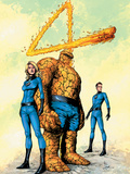 Marvel Knights 4 No26 Cover: Mr Fantastic  Human Torch  Invisible Woman  Thing and Fantastic Four