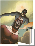 Shadowland No4 Cover: Bullseye and Daredevil Flying