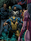 Shadowland No4: Wolverine  Luke Cage  Punisher  Iron Fist  and Spider-Man Standing