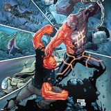 Avengers Academy No19 Cover: Mettle Fighting the Absorbing Man