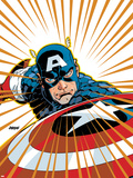 Captain America V4  No27 Cover: Captain America Fighting