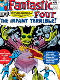 The Fantastic Four No24 Cover: Mr Fantastic