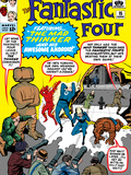 The Fantastic Four No15 Cover: Mr Fantastic