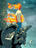 Human Torch No9 Cover: Human Torch Fighting