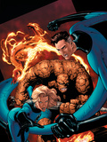 Marvel Knights 4 No20 Cover: Mr Fantastic  Invisible Woman  Human Torch  Thing and Fantastic Four
