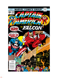 Captain America And The Falcon No201 Cover: Captain America and Falcon Crouching
