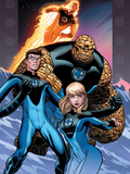 Ultimate Fantastic Four No60 Cover: Invisible Woman  Mr Fantastic  Thing and Human Torch
