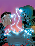 Fantastic Five No5 Cover: Mr Fantastic and Dr Doom