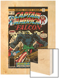 Captain America And The Falcon No204 Cover: Captain America  Falcon and Agron Fighting