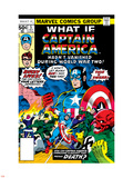 What If 5 Cover: Captain America and Red Skull Flying