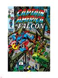 Captain America & The Falcon No13 Cover: Captain America  Falcon and Spider-Man