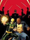 Daredevil No509 Cover:  Iron Fist  Luke Cage  and Daredevil Posing