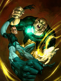 Ultimate Fantastic Four No51 Cover: Mr Fantastic and Thanos