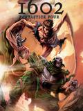 Marvel 1602: Fantastick Four No5 Cover: Mr Fantastic and Dr Doom