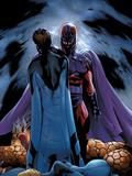Ultimate Fantastic Four No22 Cover: Magneto and Mr Fantastic