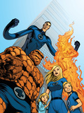 Fantastic Four No570 Cover: Thing  Invisible Woman  Human Torch and Mr Fantastic