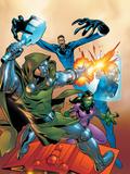 Fantastic Five No2 Cover: Dr Doom  Mr Fantastic  Invisible Woman and Lyja