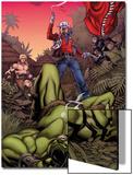 Skaar: King of The Savage Land No3 Cover: Skaar  Ka-Zar  Moon Boy