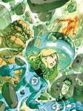 Fantastic Four: True Story No1 Cover: Invisible Woman  Thing and Mr Fantastic