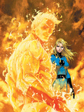 Fantastic Four No547 Cover: Human Torch and Invisible Woman