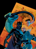 Marvel Knights 4 No21 Cover: Mr Fantastic  Invisible Woman and Black Panther
