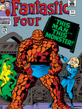 Fantastic Four No51 Cover: Invisible Woman and Thing