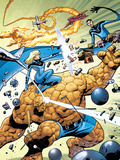 Marvel Adventures Fantastic Four No31 Cover: Thing and Invisible Woman