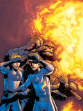Fantastic Four No519 Cover: Human Torch and Thing
