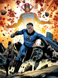 Fantastic Four No586: Mr Fantastic and Galactus Running