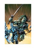 Skaar: Son Of Hulk No8 Cover: Skaar and Silver Surfer