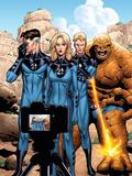 Marvel Adventures Fantastic Four No42 Cover: Mr Fantastic  Invisible Woman  Human Torch and Thing