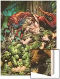 Incredible Hulks No623 Cover: Ka-Zar and Hulk Fighting