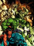 Incredible Hulk No612 Cover: A-Bomb  Red She-Hulk  She-Hulk  Hulk  Skaar  and Bruce Banner