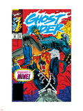 Ghost Rider No39 Cover: Ghost Rider and Vengeance Fighting