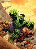 Marvel Adventures Hulk No12 Cover: Hulk  Thing and Juggernaut