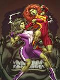 She-Hulks No1 Cover: She-Hulk and Lyra Fighting