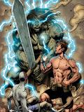Incredible Hulks No616: Bruce Banner and Skaar Posing