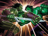 Incredible Hulk No611 Cover: Skaar and Hulk Fighting