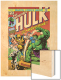 Marvel Comics Retro: The Incredible Hulk Comic Book Cover No181  with Wolverine and the Wendigo