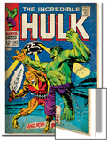 Marvel Comics Retro: The Incredible Hulk Comic Book Cover No103  with the Space Parasite (aged)