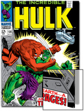 Marvel Comics Retro: The Incredible Hulk Comic Book Cover No106  Titan Rages