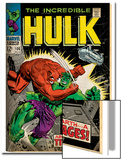 Marvel Comics Retro: The Incredible Hulk Comic Book Cover No106  Titan Rages (aged)