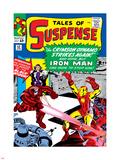 Marvel Comics Retro: The Invincible Iron Man Comic Book Cover No52  Facing the Crimson Dynamo