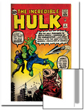 Marvel Comics Retro: The Incredible Hulk Comic Book Cover No3 (aged)
