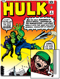 Marvel Comics Retro: The Incredible Hulk Comic Book Cover No3