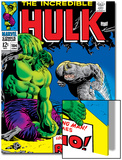 Marvel Comics Retro: The Incredible Hulk Comic Book Cover No104  with the Rhino